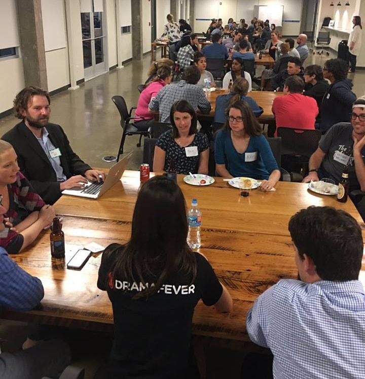 Nashville Girl Geek Dinner roundtable at Nashville Software School