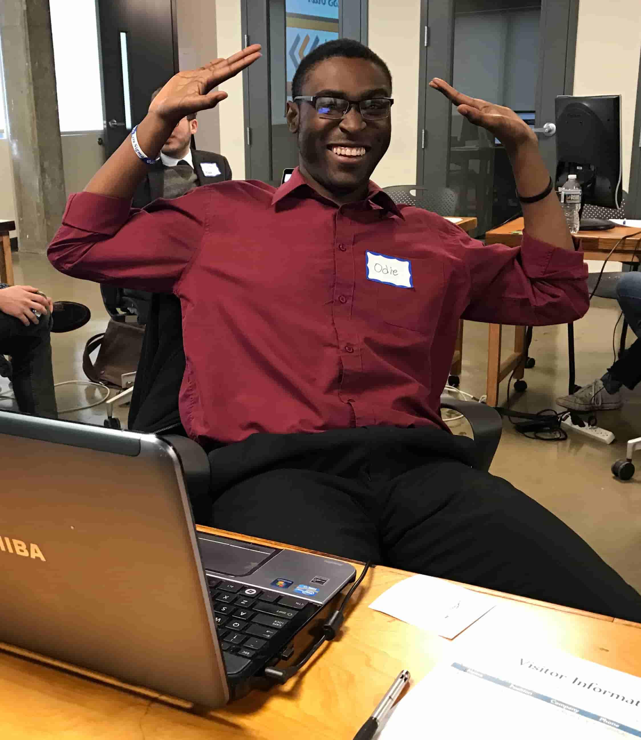 Odigene Joseph receives job offer on Demo Day
